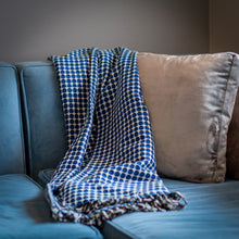 "Load image into Gallery viewer, Tanzanian Cotton Blanket- ""Night Rain"""