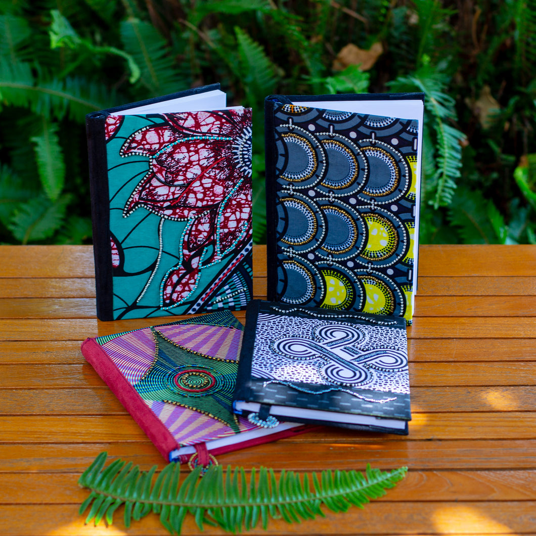 Notebook Wrapped in Kitenge Fabric, Medium-