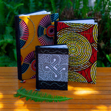 "Load image into Gallery viewer, Notebook Wrapped in Kitenge Fabric, Large- ""Misc"""