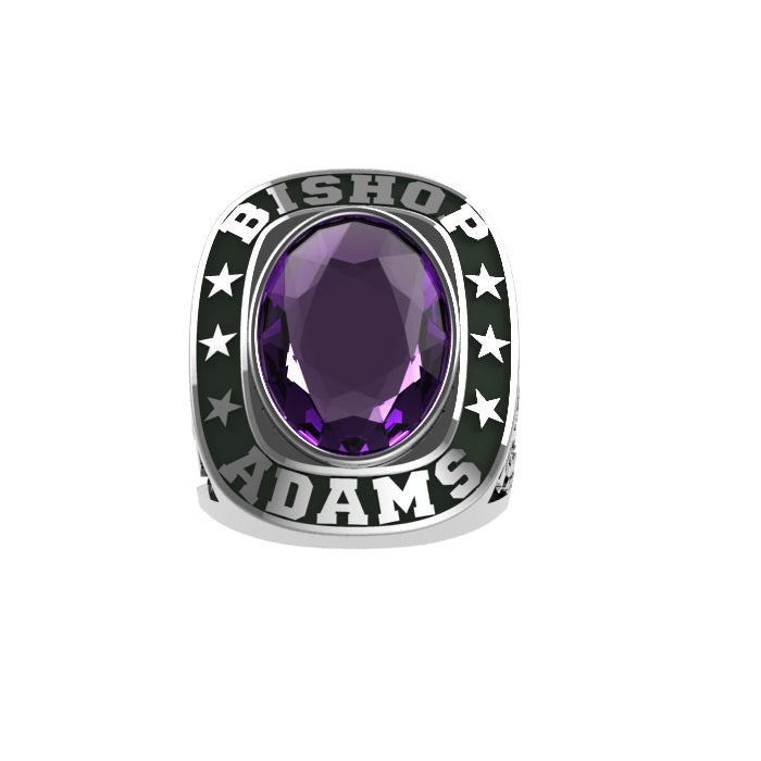 Bishop - Custom Championship Ring - J3 Rings - State Champions, National Champions, Conference Champs,  World Champion, League Champions,  Little League champions, Corporate Recognition