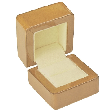 Light Beige Wood Ring Box - J3 Rings - State Champions, National Champions, Conference Champs,  World Champion, League Champions,  Little League champions, Corporate Recognition