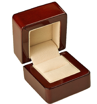Rose wood Ring box - J3 Rings - State Champions, National Champions, Conference Champs,  World Champion, League Champions,  Little League champions, Corporate Recognition