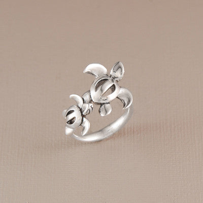 Double Turtle Ring