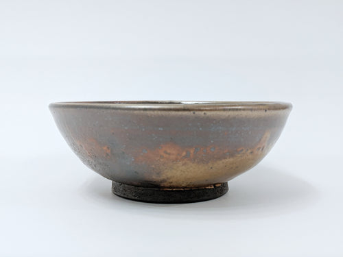 galaxy grape handmade ceramic cereal bowl front