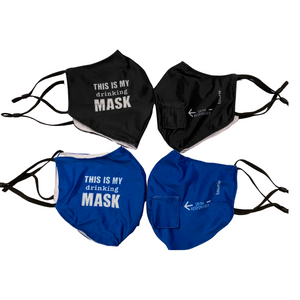 Themed Adult Face Mask with Straw Hole