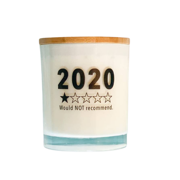 2020 Would NOT Recommend Funny Soy Candle - Balsam & Cedar