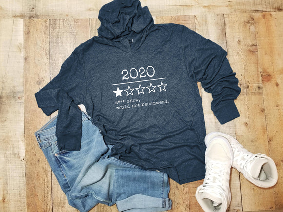 2020 Review - Unisex T-Shirt Hoodie - Medium