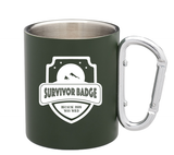Survivor Badge 2020 Carabiner Camp Mug +Free mini hand sanitizer