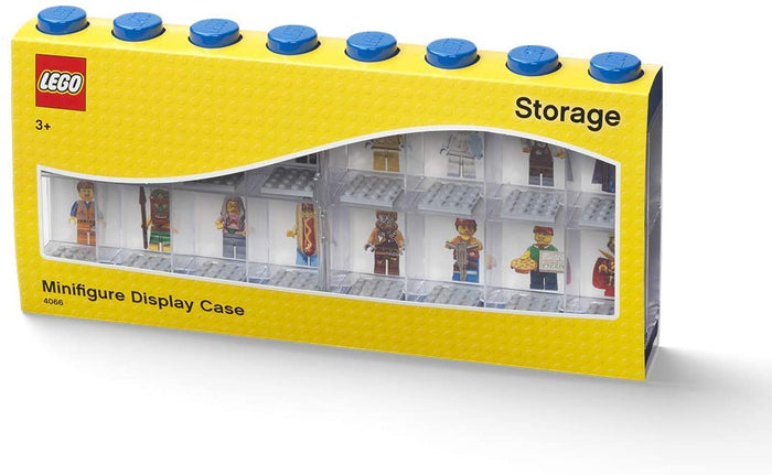 LEGO Blue 16-Piece Minifigure Display Case