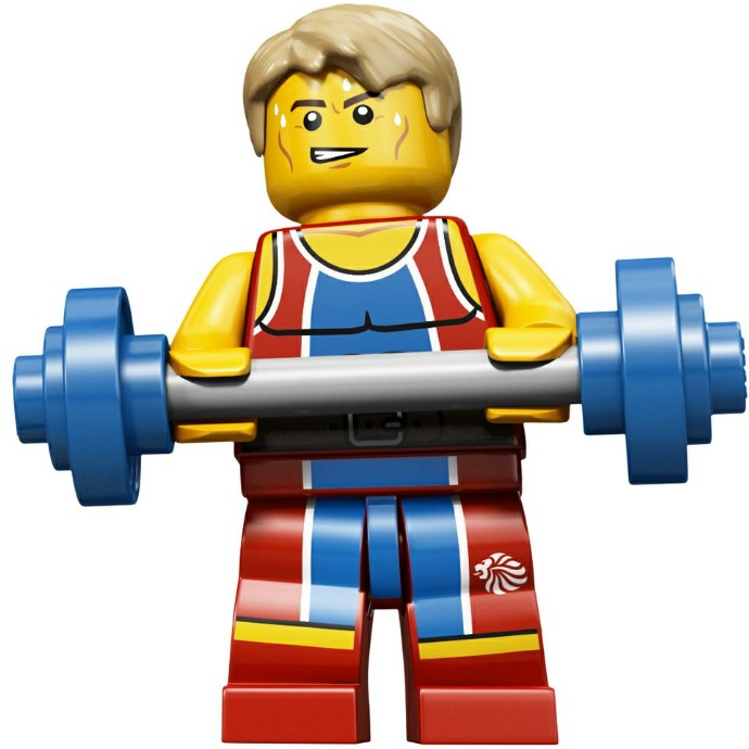 Wondrous Weightlifter - Series Olympic Team GB LEGO Minifigure (2012)