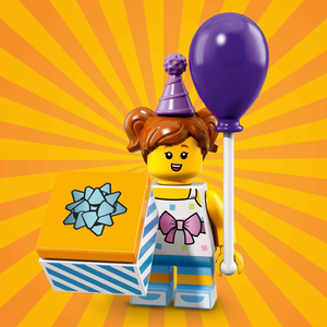 Birthday Party Girl - Series 18 LEGO Minifigure (2018)
