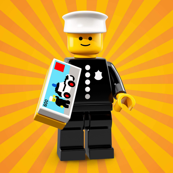 Classic Police Officer - Series 18 LEGO Minifigure (2018)