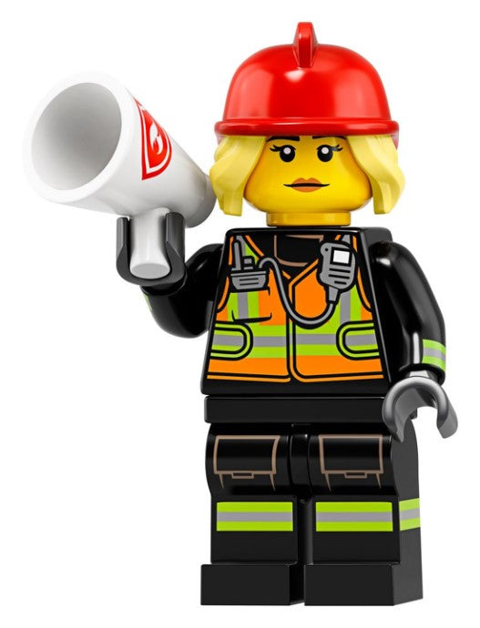 Fire Fighter (Female) - Series 19 LEGO Minifigure (2019)