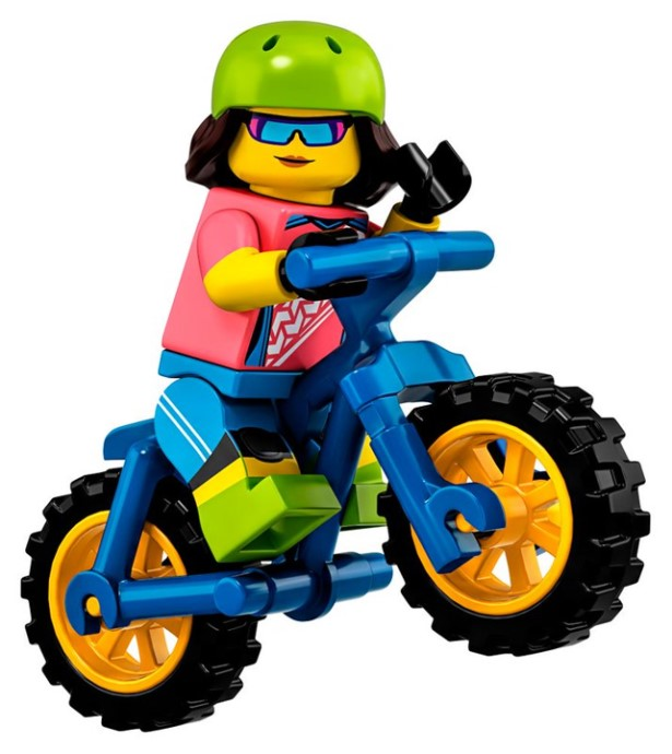Mountain Biker (Female) - Series 19 LEGO Minifigure (2019)