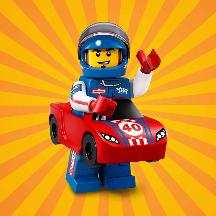 Race Car Guy - Series 18 LEGO Minifigure (2018)