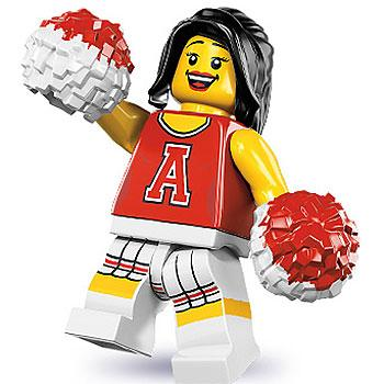 Red Cheerleader - Series 8 LEGO Minifigure (2012)