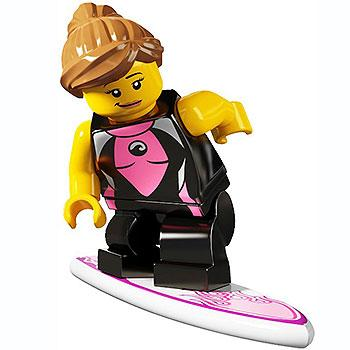 Surfer Girl - Series 4 LEGO Minifigure (2011)