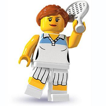 Tennis Player - Series 3 LEGO Minifigure (2011)