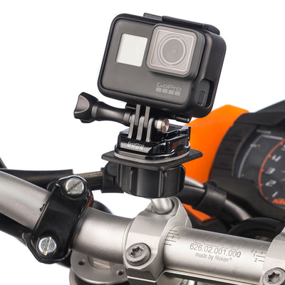 Secure Motorcycle Clamp Bolt Action Camera Mount Kit for GoPro Heros - Ultimateaddons