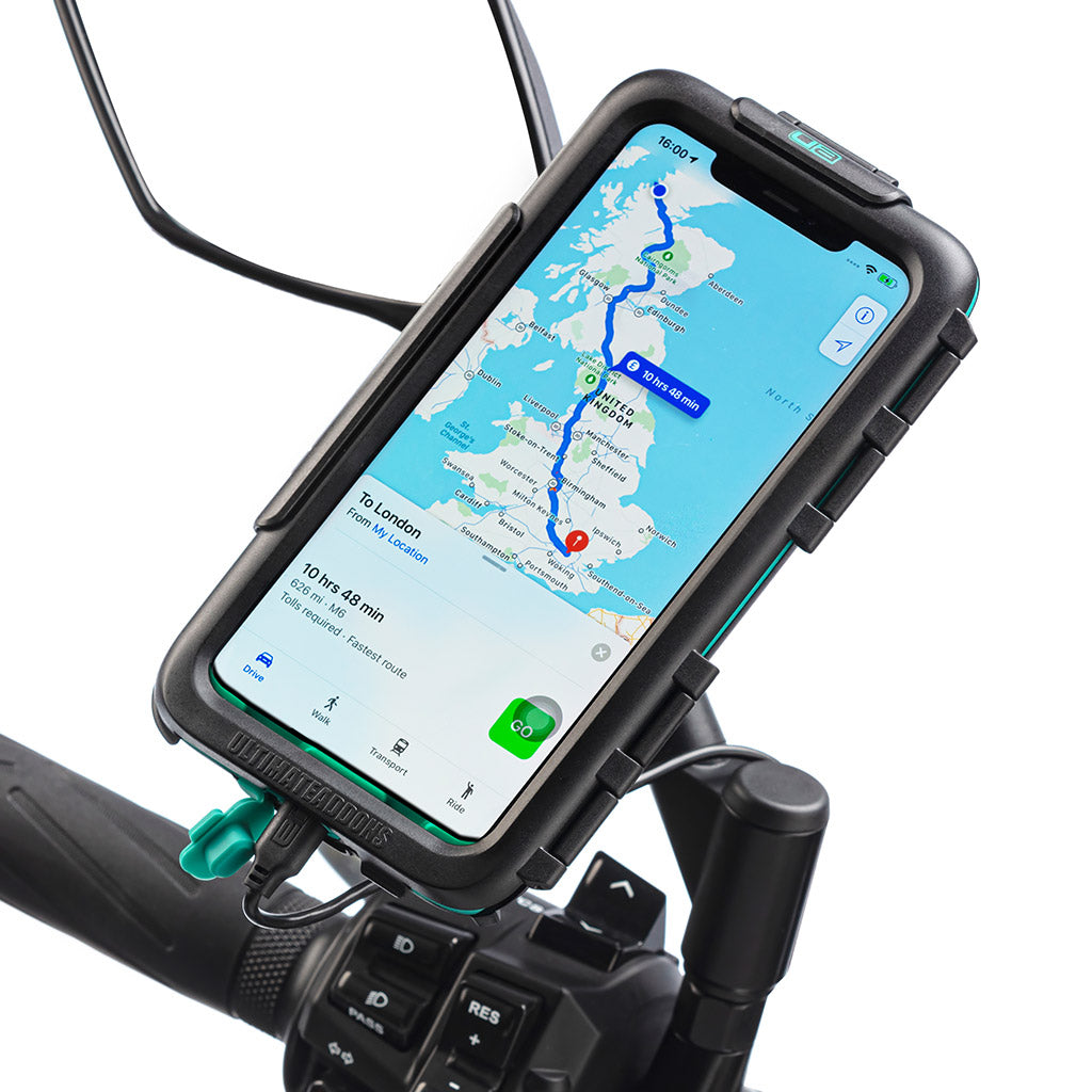 iPhone XR Scooter Mirror Waterproof Tough Case Mount - Ultimateaddons