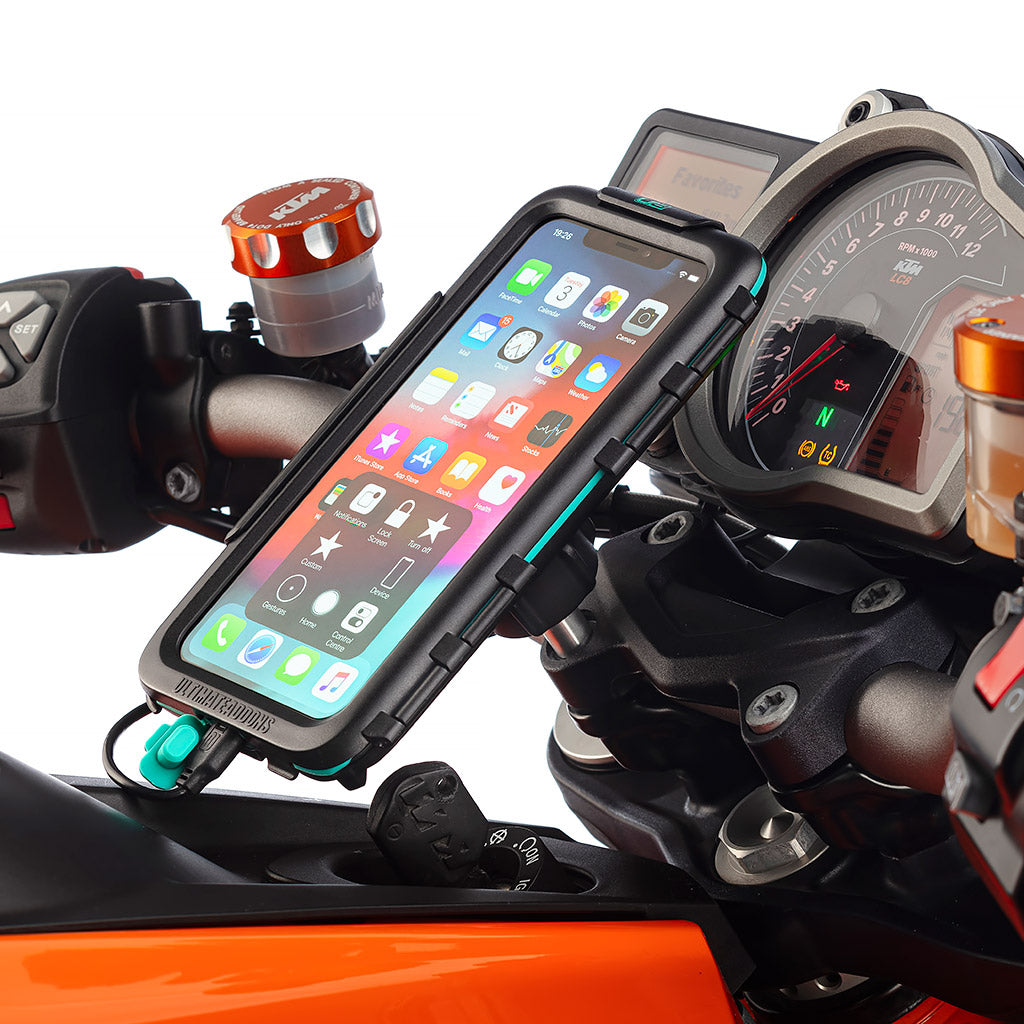 Motorcycle Top Clamp Waterproof Hard Case Kit iPhone Xs Max - Ultimateaddons