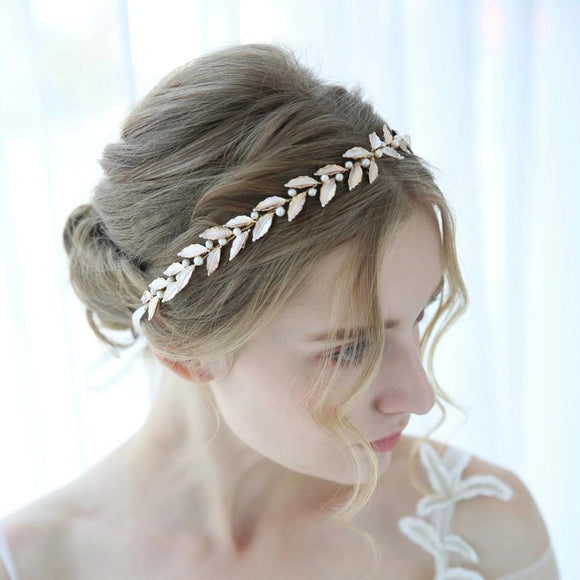 rose gold bridal hair vine, bride bridesmaid wedding hairpiece, Wedding bridal Headpiece