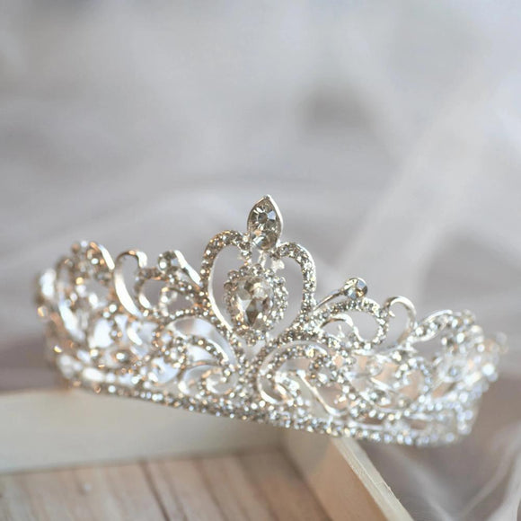 flower girl crown, rhinestone crown,birthday princess headpiece, bridal tiara, princess crown