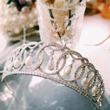 The Grand Duchess Vladimir Tiara Replica, made with rhinestone and pearls.