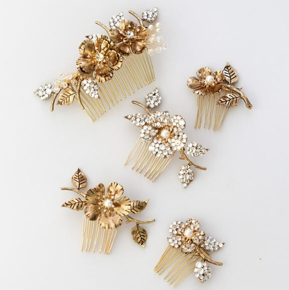 vintage brass hair combs headband bridal hairpiece, boho romantic brass hairpiece