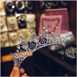 Swarovski crystal bridal royal tiara, Elizabeth Taylor owned, silver and rose gold