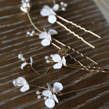white little flower bridal hairpiece hair vine hair pins, vintage roman headpiece hair vine, boho florets hair vine, bride bridesmaid wedding hair pins