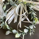 Wedding Flower Girl Crown hairpiece , bridesmaids Leaf Crown, leaf wreath, flower wreath for Wedding, Bridesmaids, Flower girl, Prom