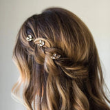 Crystal Hair Pins Bridal Hair Pins Wedding Hair Pins Silver Hair Pins Gold Hair Pins Bridal Bobby Pins Minimal Hair Pins Headpiece