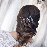 Bridal hair pins Wedding Head piece silver Swarowski Crystal Bridal hair pins pearl Wedding hair pins Bridal hair piece Bridesmaid