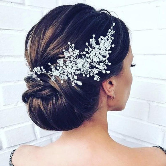 bridal hair vine wedding hair vine bridal hairpiece wedding headband wedding hair  accessories crystal bridal hair vine bridal headband