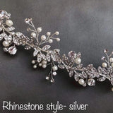 Boho Wedding Bridal Rhinestone hair vine hairpiece hair band, Hair Vine, Hair Wreath, Wedding Pearl Hair Vine, Wedding bridal Headpiece
