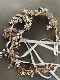 wedding bridal Hair Vine, freshwater pearl and rhinestone hairpiece Hair Wreath, Wedding Pearl Hair Vine, Wedding bridal Headpiece