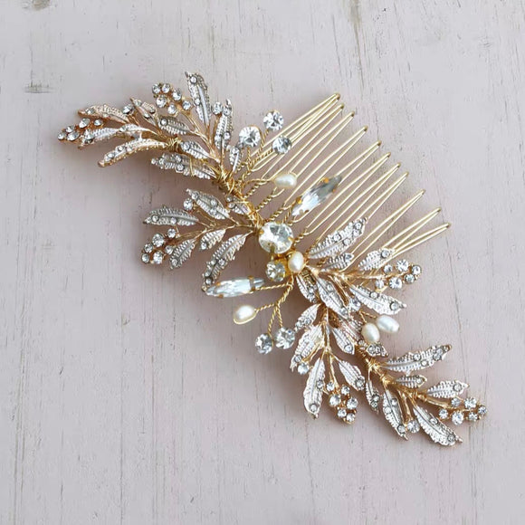 Blush pink rose gold bridal comb hair accessories Bridal hair accessories Blush pink hair pieces