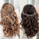 swarovski crystal hair vine bridal hairpiece for wedding, available in rose gold, gold & silver