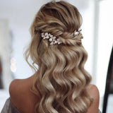 white little flower bridal hairpiece hair vine hair pins