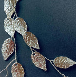 Wedding Bridal boho Leaf Hair vine, gold leaf hair vine, silver leaf hair vine, boho bridal headpiece