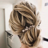 elegant bridal rhinestone hair comb for wedding, simple hair comb