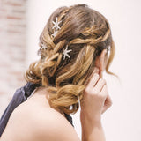 Crystal rhinestone Star celestial Hair Pins hair clips, boho bridal hair pins, gold and silver Crystal star hair accessories