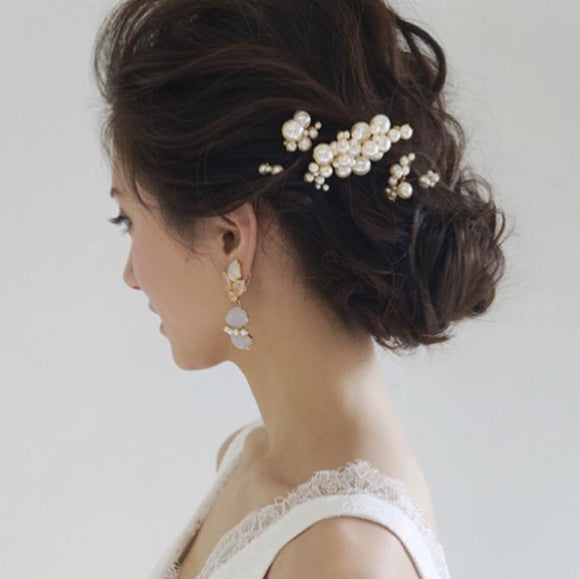 pearl hairpiece classic bridal hairpiece wedding hair accessory bride hair comb
