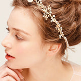 wedding bridal Hair Vine, freshwater pearl and rhinestone hairpiece hair wreath