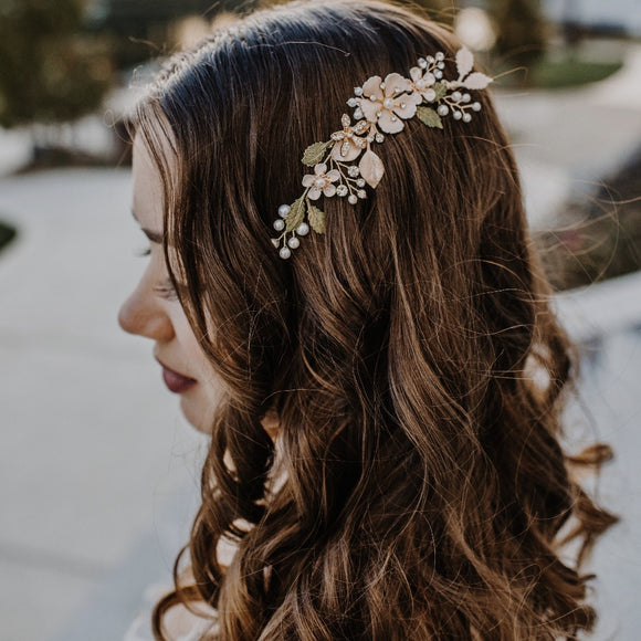 boho-floral-bridal-hair-vine-hairpiece-rose-gold-hairpiece-headband-boho-romantic-brass-blush-pink-hairpiece-vintage-headband