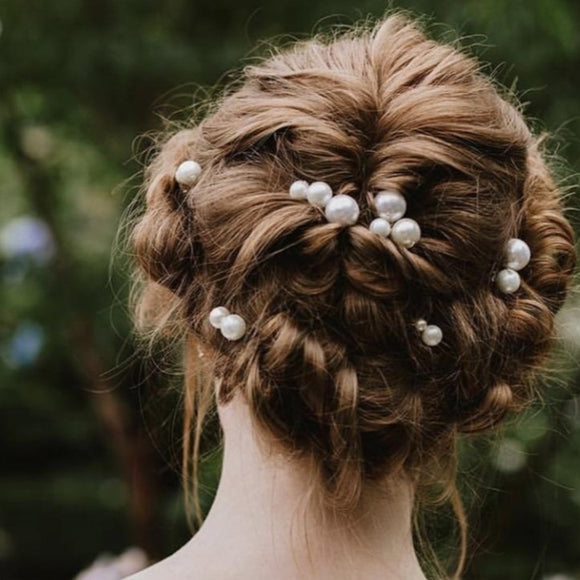 pearls headpiece for wedding bride, bridal pearl hair pins, pearl Headpiece, elegant pearl hair combs