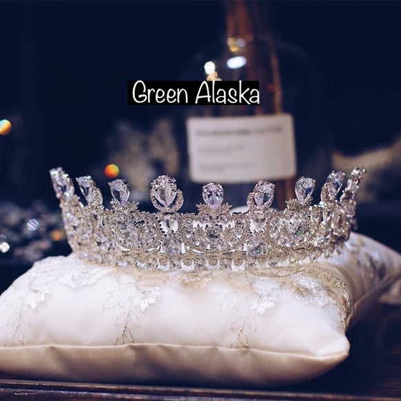 luxury royal rhinestone crown tiara, rhinestone wedding tiara crown, best crown for your big day