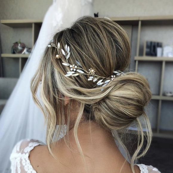 boho opal moonstone bridal hair vine for wedding, wedding bridal hair wreath, Wedding bridal Headpiece