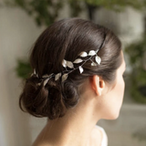 wedding bridal boho leaf hair vine